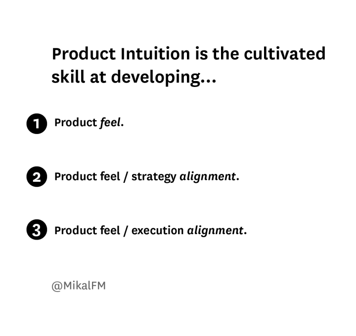 Product Intuition, A Prelude